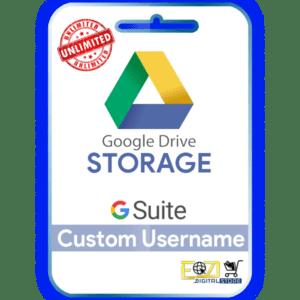 buy google drive unlimited google drive storage Gsuite account custom username